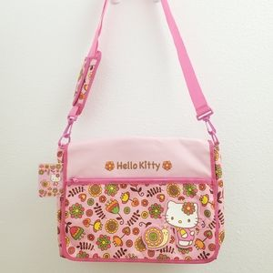NWT Hello Kitty pink Floral Messenger Bag ACC40
